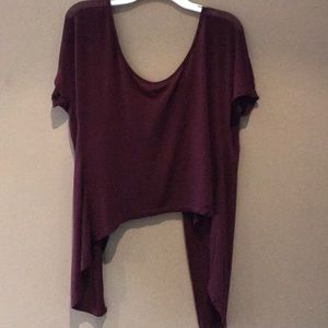 Brandy Melville maroon open back top